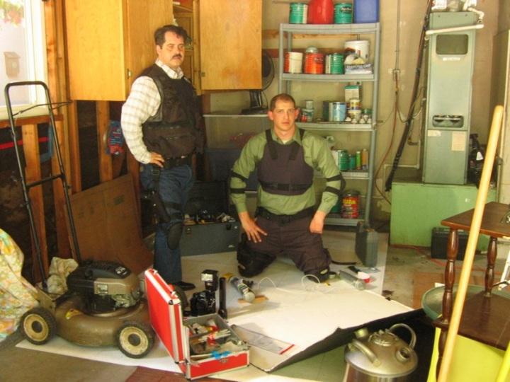 Rex Hoss and Daniel Shilleci as LAPD Bomb Squad Detectives.