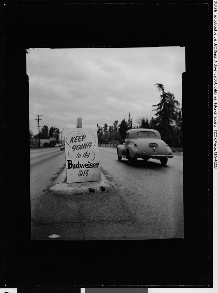 Anheuser-Busch's Budweiser groundbreaking, Van Nuys, 1952