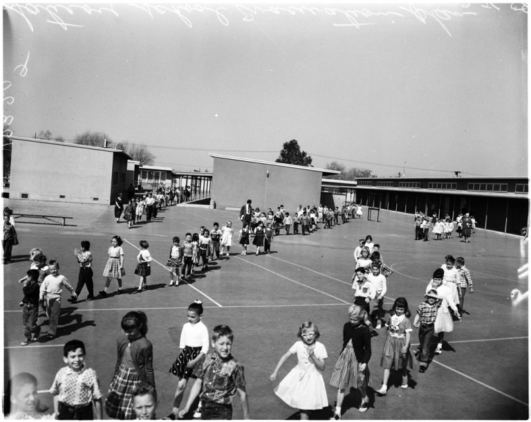 Saticoy School Evacuation: 1958