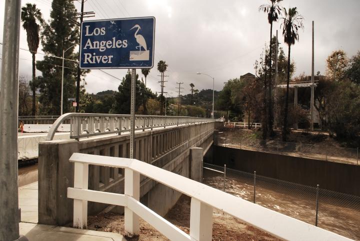 Fulton Av. Bridge/LA River/View South