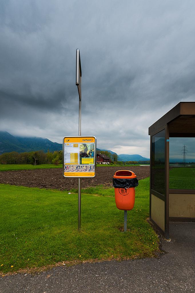 Bus Stop Crebelley, Vaud, Switzerland © 2013 Gerald Verdon