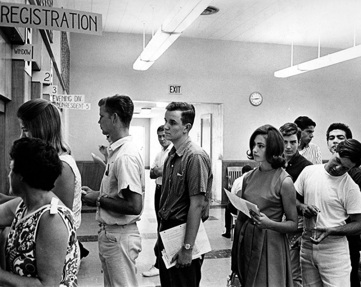 8/27/64: Registration at Valley College.