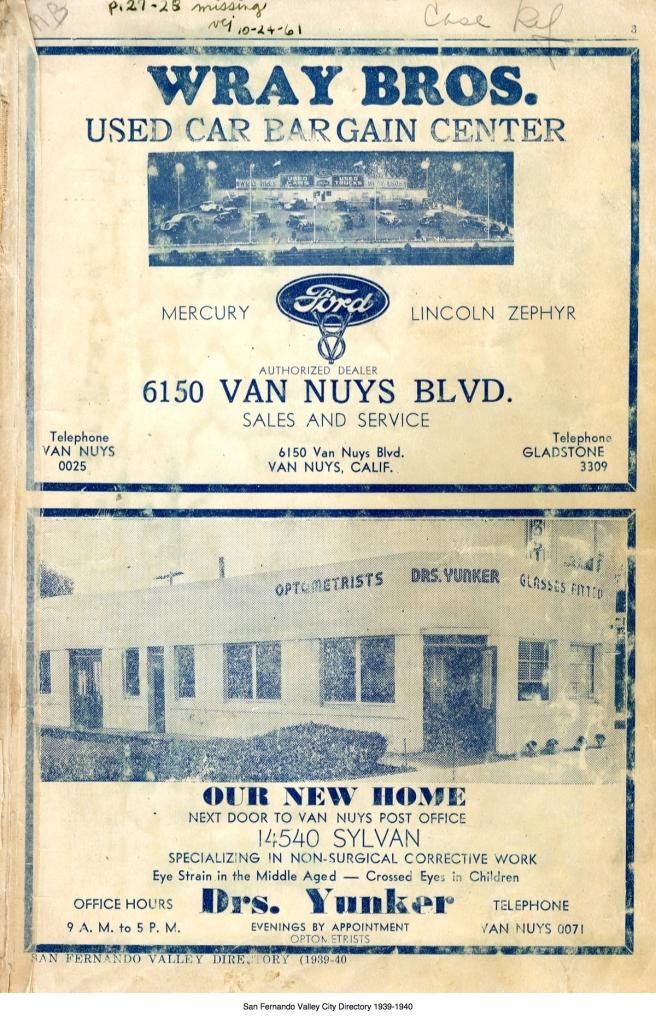 Wray Bros 1940