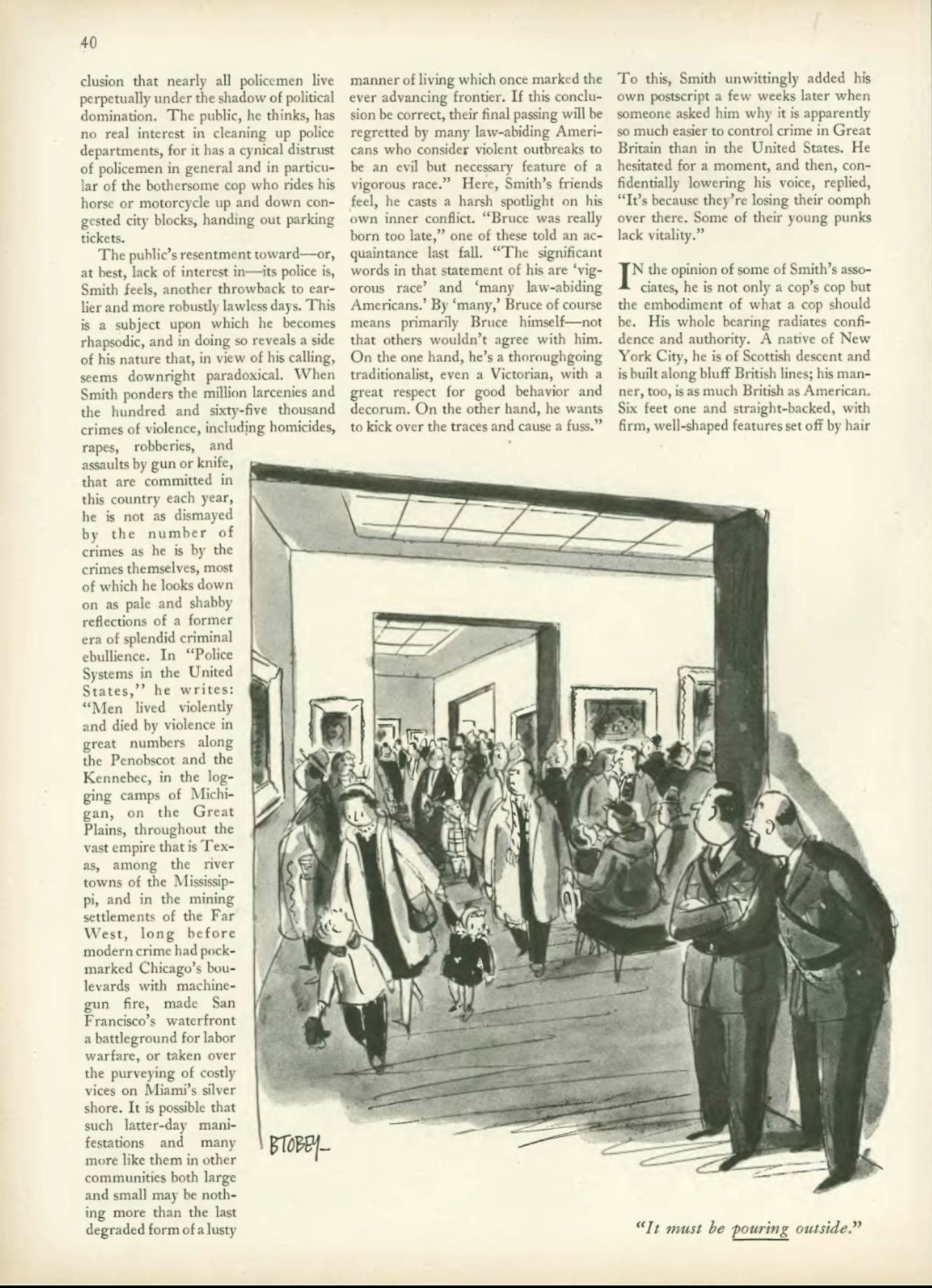 Bruce Smith, Police, The New Yorker, Feb 27, 1954